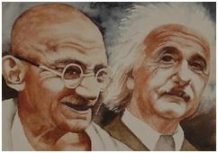 Einstein e Gandhi
